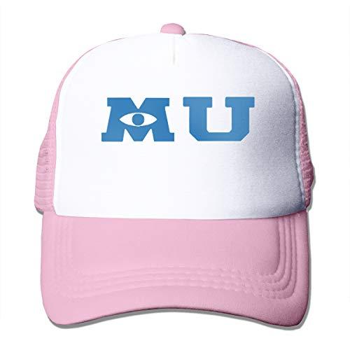 MONIKAL Merica Grid Baseball Caps Monsters University Merchandise Unisex Mesh Cap Adjustable Sunshade Hat Pink