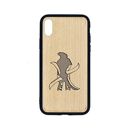 Sasuke Stand Tall Deca - iPhone Xs MAX CASE - Maple Premium Slim & Lightweight Traveler Wooden Protective Phone CASE - Unique, Stylish & ECO-Friendly - Designed for iPhone Xs MAX