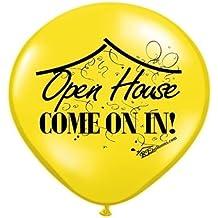 "Open House Balloons *Make Your Open House POP* with this Pack of (12) 'OPEN HOUSE' 11"" Balloons *by REballoons (TM)"