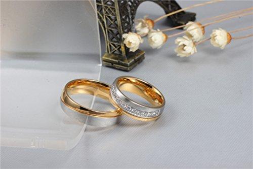 HIJONES Hombres Mujeres Forever Amor Serie Inox 18K Oro Revestidos De Vendas Deboda Para Parejas: Amazon.es: Joyería