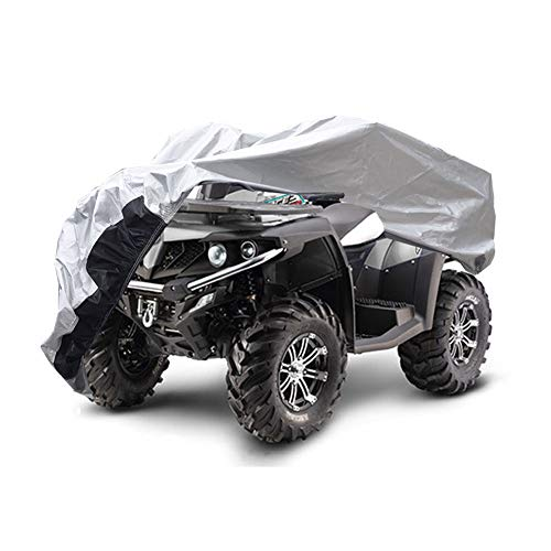 GUNHYI Heavy Duty Atv Covers Waterproof All Weather, 4 Layer Quad Wheeler cover, Universal Fit Honda Polaris yamaha, XXXL (100x43x48 inch)