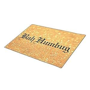Winlighting Yuletide Gold Monogrammed Door Mat