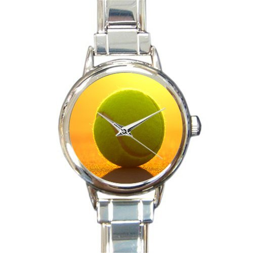 Charm Tennis Italian Ball - Friends Gifts/New Year Gifts Stylish Tennis Ball At Sunset Round Italian Charm Watch