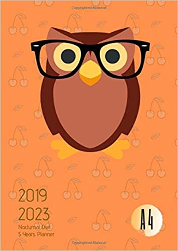 2019-2023 Five Year Planner A4 Nocturnal Owl Goals Monthly ...