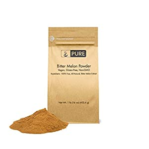 Bitter Melon Powder (1 lb) by Pure Organic Ingredients, Eco-Friendly Packaging, 100% Pure & All-Natural, Non-GMO, Vegan & Gluten-Free, Vitamin-C Rich Superfood 114
