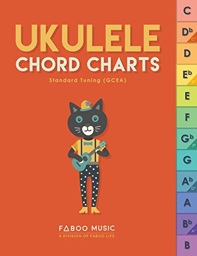 Ukulele Chord Charts: Delightful, neatly designed, easy-to-read, detailed and organized chord charts that bring joy to your uke playing experience (ukulele, chord charts, tabs) Easy Guitar Chord Chart