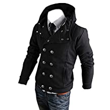 Partiss Men's Long Sleeves Double Breasted Casual Hoodies