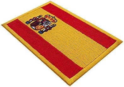 Bandera de España escudo bordado alta calidad: Amazon.es: Hogar