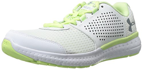 Under Armour Women's Micro G Fuel Cross-Country Running Shoe, Blk/Glg/Glg, M US White/Lime Fizz