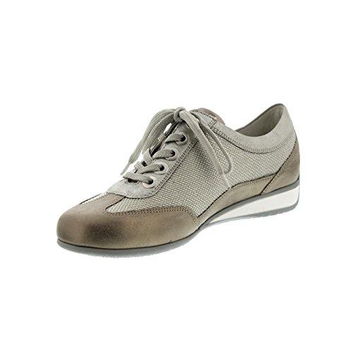 Skin ufer cordones mujer de para Hadara Zapatos Silber de Waldl Piel Lightgold IZP4ZH