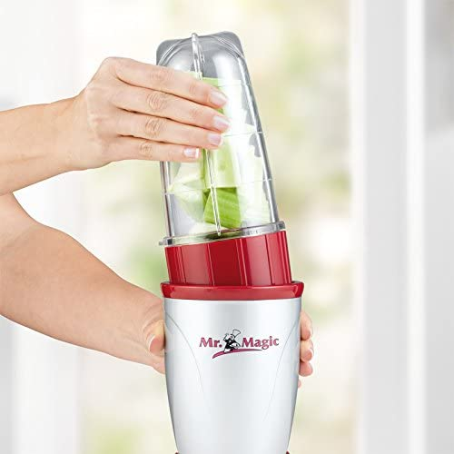 Mr. Magic robot de cuisine | mixer | fabricant de smoothie | rouge / argenté