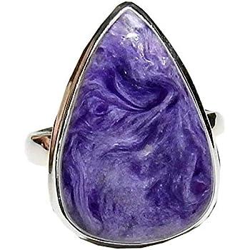 Amazon com: Charoite Ring Sterling Silver Natural Spiritual