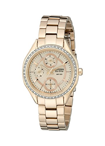 - Drive From Citizen Eco-Drive Women's Watch with Crystal Accents and Date, FD1063-57X