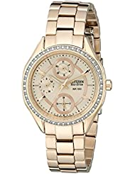 Drive From Citizen Eco-Drive Womens Watch with Crystal Accents and Date, FD1063-57X