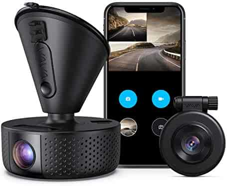 Dual Dash Cam, VAVA Dual 1920x1080P FHD Front and Rear Dash Camera (2560x1440P Single Front) for Cars with Wi-Fi, Night Vision, Parking Mode, G-Sensor, WDR, Loop Recording