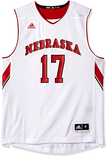 NCAA Nebraska Cornhuskers Mens Replica Basketball Jerseyreplica Basketball Jersey, White, Medium (Cornhuskers Basketball Nebraska Mens)