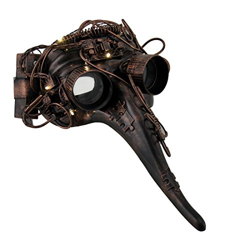 Metallic-Steampunk-Plague-Doctor-LED-Light-Up-Mask-wGoggles