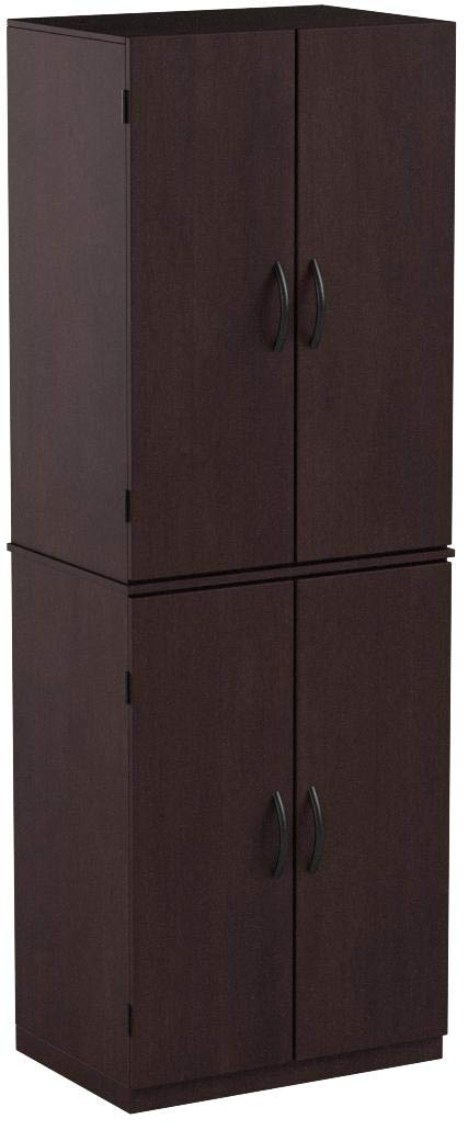 Mainstay Storage Cabinet - Cinnamon Cherry - Spacious, Ample Storage for Kitchen Accessories and Pantry Items Behind Four Doors - Ergonomic Door Handles for Easy-Grip Access - Easy Assembly by Mainstay