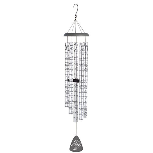 Wind Chime-Sonnet-Angels Arms-Silver/Black (55'') by Carson