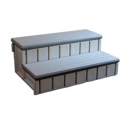 Confer Plastics Spa Step with Storage - Gray by Confer Plastics