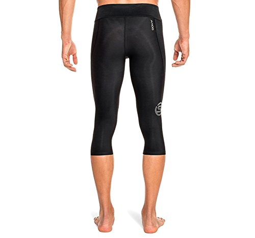 Skins Men's A400 Compression 3/4 Tights, Black/Gold, Small by Skins (Image #3)