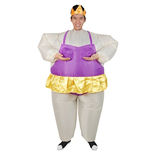 Geek- (Purple Inflatable Funny Costumes)