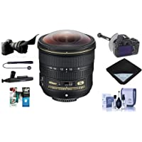 Nikon 8-15mm f/3.5-4.5E EDIF AF-S Fisheye NIKKOR Lens USA - Bundle With FocusShifter DSLR Follow Focus, Flex Lens Shade, Lens Wrap, Cleaning Kit, Capleash II, Software Package, Lenspen Cleaner
