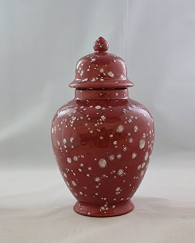 Handcrafted Ceramic Urn - Cranberry -113 cu in - Various Colors and Sizes Available, Cremation Urn for Ashes, Pet Urn by Richland Pet Cremation & Memorials
