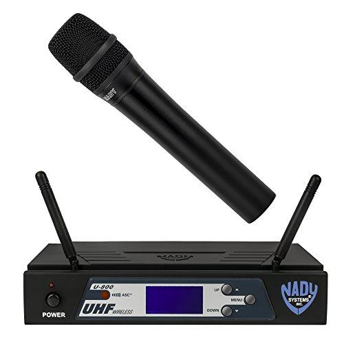 Nady U-800 UHF 800-Channel Wireless Handheld Microphone System w/ True (True Diversity Uhf Handheld)