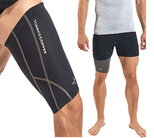 Tommie Copper Men's Performance Quad Sleeves 2.0, Small, Black by Tommie Copper (Image #1)