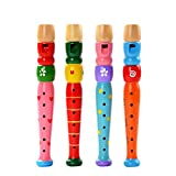 Aoruisier Colorful Piccolo Children Flute Musical Instrument Early Education Toy Gift for Child Baby(Random Color)