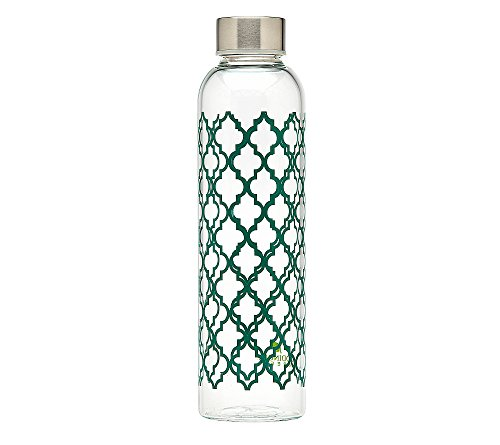 Godinger Glass 20-oz. Trellis Print Water Bottle