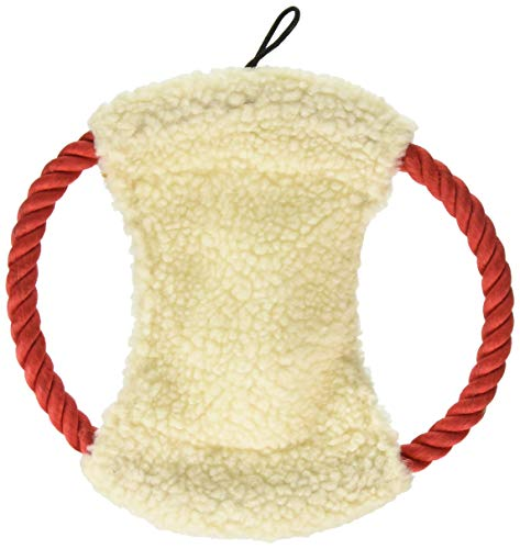 Dog Life Comfy-Fleece Rope Disc Dog Toy - 10 Inch