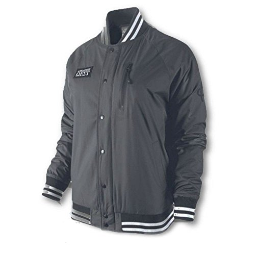 West Dark Bomber Jacket Nike Destroyer Varsity Grey Athletic Black Womens qTSEvBn