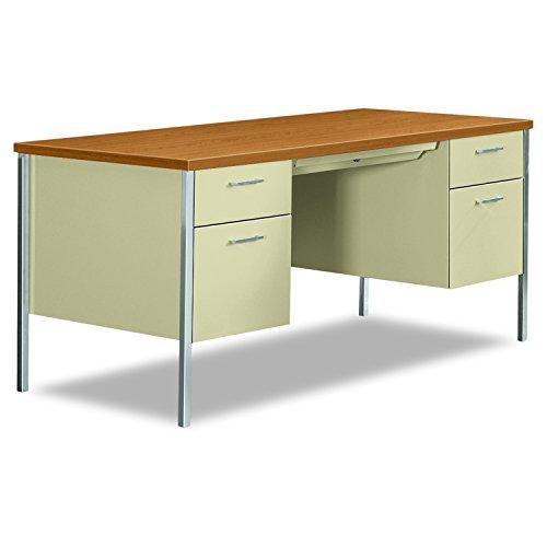 HON 34962CL 34000 Series Double Pedestal Desk 60w x 30d x 29 1/2h Harvest/Putty, Harvest/Putty