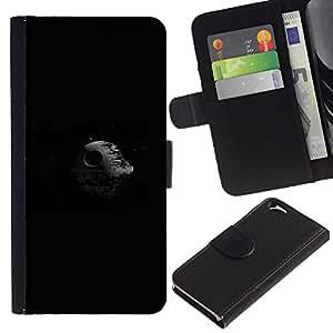 Stuss Case / Funda Carcasa PU de Cuero - Estrella de la Muerte Espacio - Apple Iphone 6