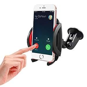 Play X Store teléfono universal soporte de coche parabrisas Soporte de coche para iPhone y Andriod teléfonos móviles, color negro