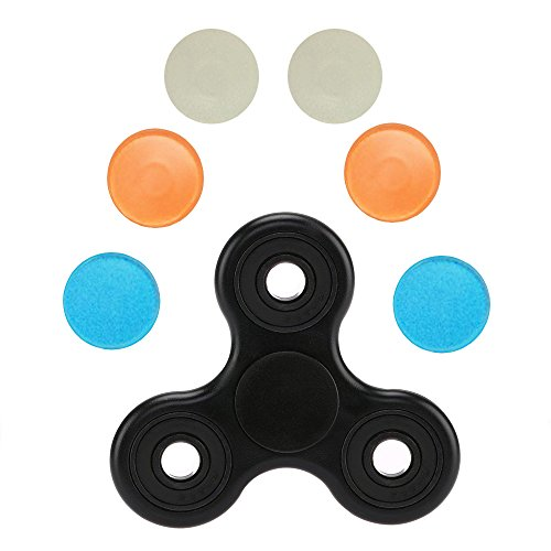 Fidget Tri Spinner Toy Prime + 6 BONUS CAPS Hand Figit Fast Cheap Cool Tri Fidget Toy Rainbow Best Ceramic Bearing Stress Spinner Toy Colorful High Speed Unique ADHD Triangle - Day Free Next Shipping