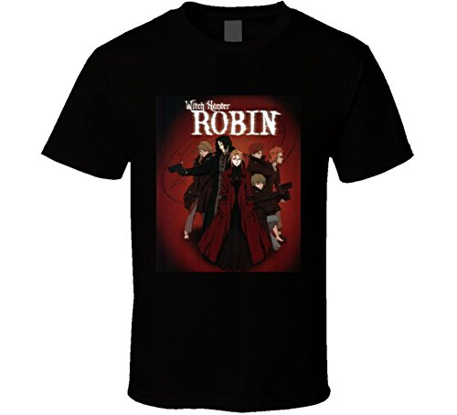 Witch Hunter Robin Anime Tv Show Poster Cool Fan T Shirt XL Black