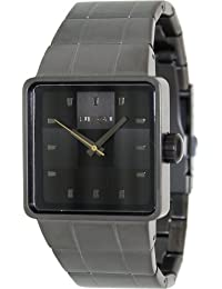 Nixon Men's Quatro A013680-00 Grey Stainless-Steel Quartz Watch with Black Dial