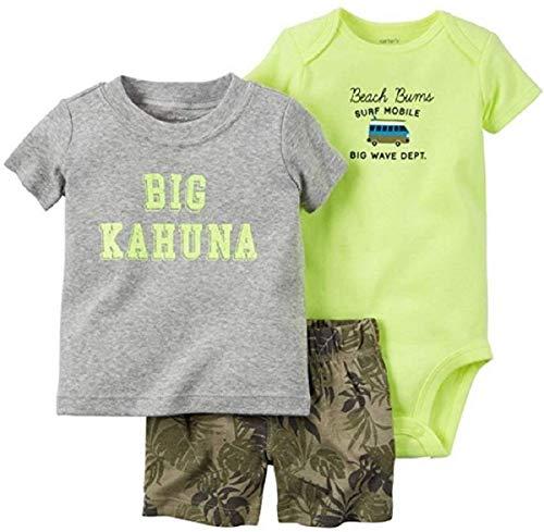 Carter's Beach Bum 3-Piece Set, Shorts, Bodysuit & Shirt, 9 Months