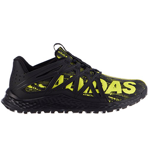 adidas Performance Men's Vigor Bounce m Trail Runner, Black/Shock Slime/Black, 10 M US (Adidas Trail Running Shoes Men)