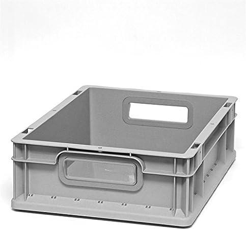 Euroboxen Eurokasten Eurobeh/älter offener Griff 400 x 300 x 120 mm Eurokisten Eurobox Lagerbox Lagerboxen Lagerkiste Lagerkisten Griffmulde blau