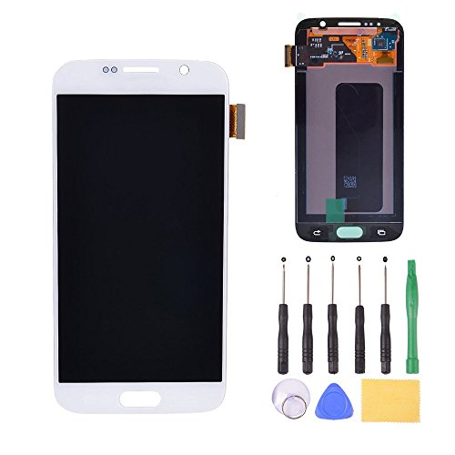 LCD Display Touch Screen Digitizer Assembly Replacement Tools Samsung Galaxy S6 G920 G920A G920i G9200(White)