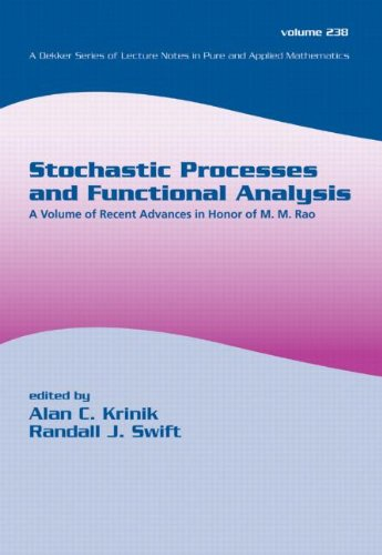 Stochastic Processes and Functional Analysis: A Volume of Recent Advances in Honor of M. M. Rao (Lecture Notes in Pure and Applied Mathematics)