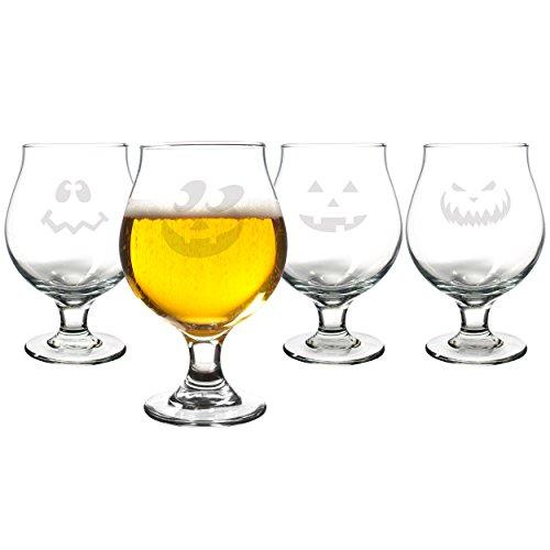 Cathy's Concepts Jack-O-Lantern Belgian Beer Glasses, Set of ()