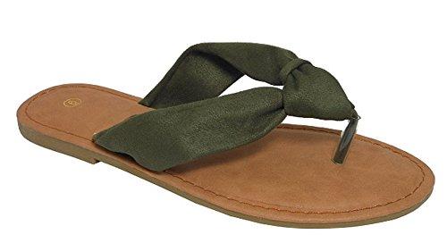 Cambridge Velg Et Dame Myk Knute Tanga Flip-flop Slip-on Flat Glide Sandal
