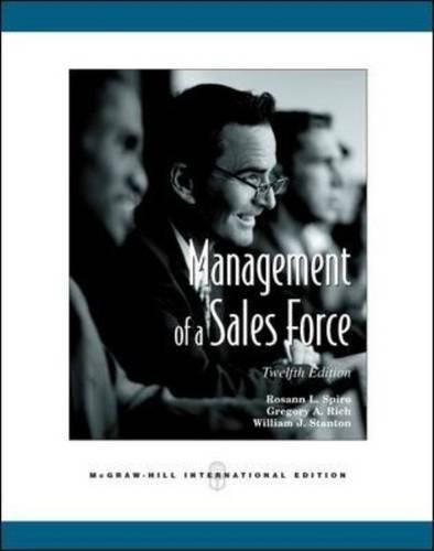 Download Management of a Sales Force: Rosann L ebook