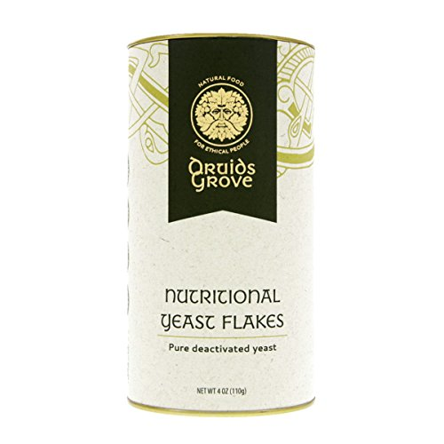 Druids Grove Organic Nutritional Yeast Flakes ☮ Vegan ⊘ Non-GMO ❤ ✡ OU Kosher Certified - 4 oz.