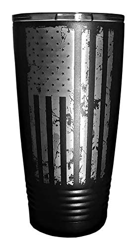 - MANNERZ 20oz. Insulated Tumbler With Laser Etched American Flag. Drink Coffee, Hot, Cold, Any beverage in the USA